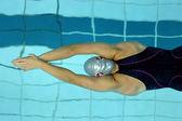 Underwater start — Stock Photo