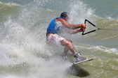 Wakeboard splash — Stock Photo
