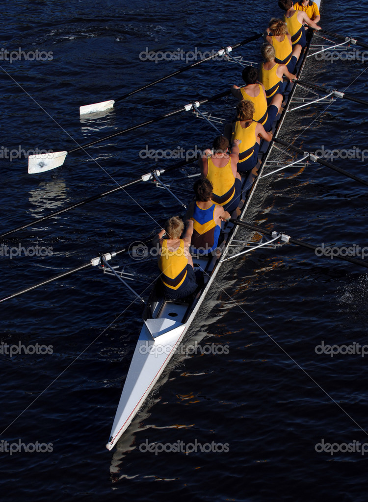 An aerial view of a rowing crew in action. — Stock Photo #3530282