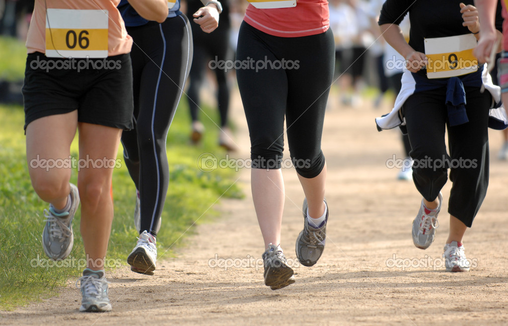 Female competitors during a women's fun run — Stock Photo #3532362