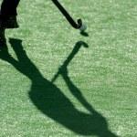 Hockey shadows — Stock Photo
