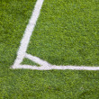 Stock Photo: Football field corner