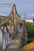 Roest op oude brug — Stockfoto
