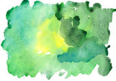 Watercolor green — Stock Photo