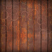 Wooden boards and ornament — Stock Photo