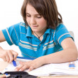 School boy learning — Stock Photo