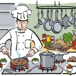 Stock Vector: Consummate Chef