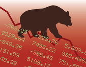 Bear Market in the Red — Stock Vector
