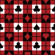 Card Suits Plaid Pattern — Image vectorielle