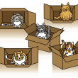 Royalty-Free Stock Vector Image: Cute Cats in Cartons
