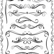Stock Vector: Decorative Borders Set 3