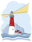Classic Lighthouse — Stock Vector