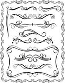 Decorative Borders Set 3 — Stock Vector
