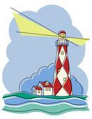 Diamond Lighthouse — Stock Vector