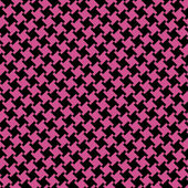 A Different Houndstooth in Magenta and Black — Stock Vector