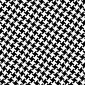 A Different Houndstooth in Black and White — Stock Vector