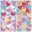Stock Vector: Floating Hearts Pattern