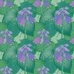 Flowering Hosta Pattern — Stock Vector