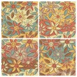 Free-Form Floral Pattern_Autumn — Stock Vector
