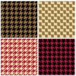 Pixel Houndstooth Patterns - Stock Vector