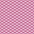 Gingham Pattern in Pink - Stock Vector