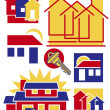 Home Icons Collection #1 — Stock Vector