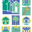 Home Icons Collection #3 — Stock Vector