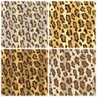 Stock Vector: Leopard Spots Pattern