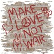 Make Love Not War — Stock Vector