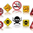 Stock Vector: No Smoking Icons