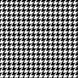 Pixel Houndstooth #1 — Stock Vector