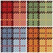 Royalty-Free Stock Vector Image: Pixel Plaid in 4 Colorways