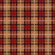 Pixel Plaid in Red and Gold — Imagen vectorial