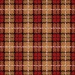 plaid de pixel en rojo y oro — Vector de stock