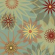 Retro Flower Background — Stok Vektör
