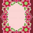 Stock Vector: Retro Flower Frame in Pink