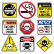 Stock Vector: Smoking Hazard Signs