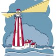 Striped Lighthouse — Stock Vector