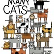 Stock Vector: Too Many Cats