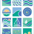 Royalty-Free Stock Vector Image: Water Icons Collection 1