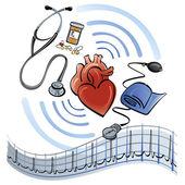Heart Healthcare — Stock Vector