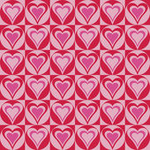 Hearts Background in Red and Pink — Stock Vector