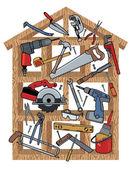 Ev yapımı — Stok Vektör