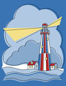 Patchwork Lighthouse — Stock Vector