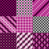 Puzzle Patterns in Magenta — Stock Vector