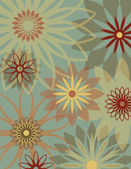 Retro Flower Background — Vecteur