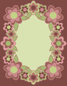 Retro Flower Frame — Stock Vector
