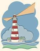 Variegated Lighthouse — Stock Vector