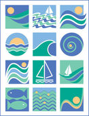 Water Icons Collection 1 — Stock Vector