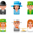 Avatar world icons(english,irish,italian) — Stock Photo